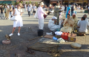 With the snakes, Djemaa el Fna, Marrakech
