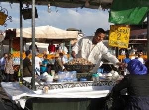 Snail soup seller. Djemaa el-Fnaa Marrakech.