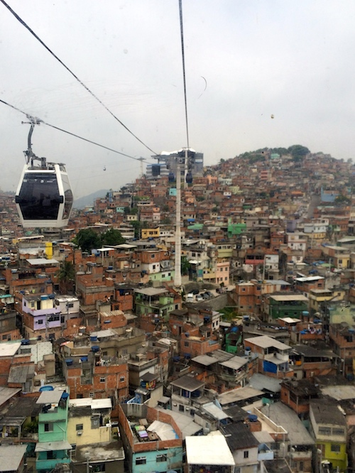 Gondola ride over the favela